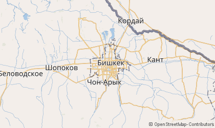 Bishkek Map